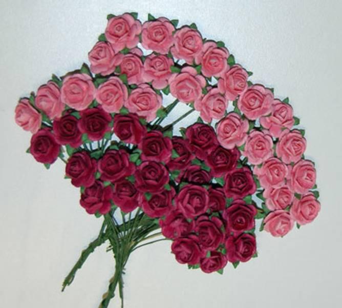 Bilde av Nr 32, Roser 1,0 cm, Rosa og